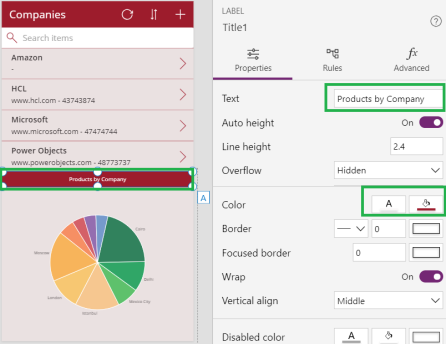 Common Data Service For Apps Canvas App Pie Chart To Display