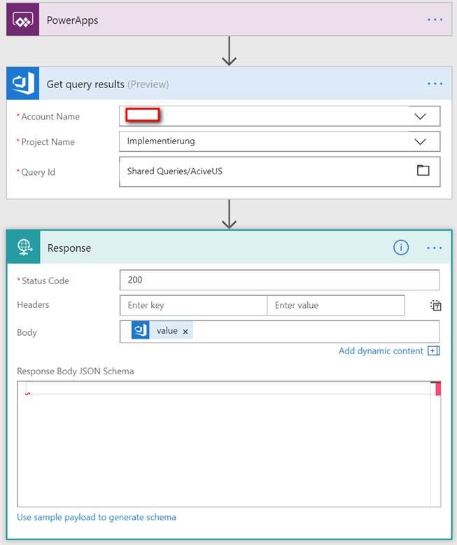 Retrieve Data in PowerApps from Flow - Microsoft Dynamics