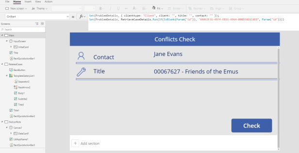PowerApps Initial
