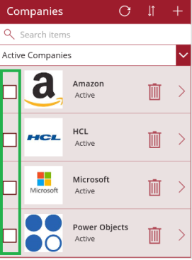 PowerApp CDS – Multi Select Items in Gallery using Checkbox